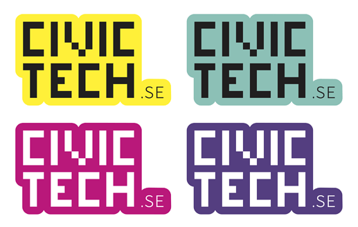 Civic Tech Sweden Stickers